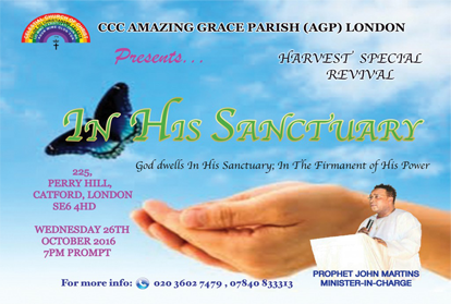 """HARVEST SPECIAL REVIVAL!!! subtagged, """"IN HIS SANCTUARY"""""""